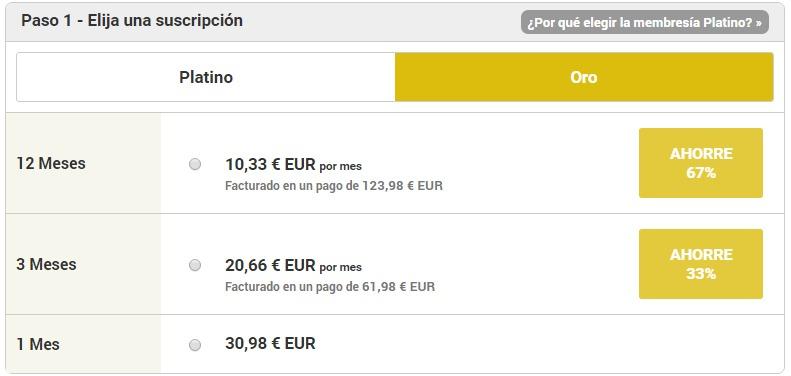 latinamericancupid precios oro